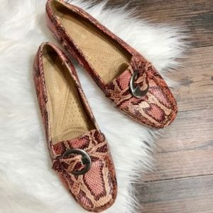 Naturalizer Galita faux snake skin loafers